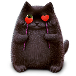 Картинки кот влюблен