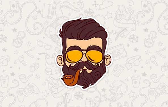 Стикеры в вк бородист