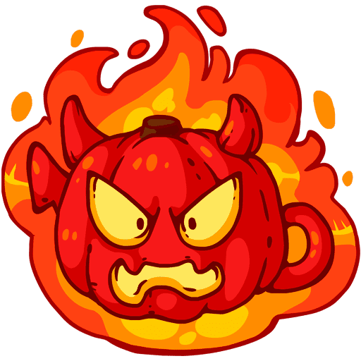 VK sticker Pumpkinween 6