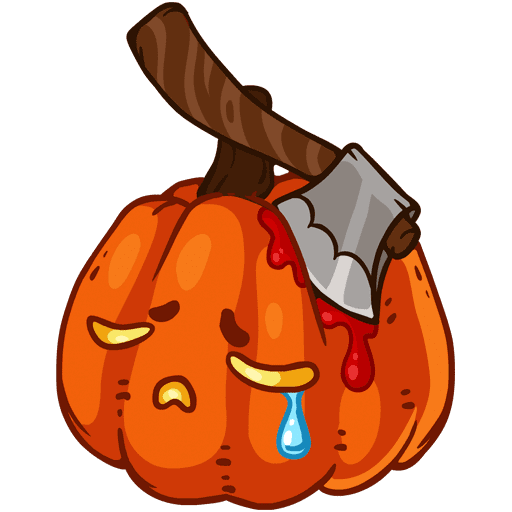 VK sticker Pumpkinween 11