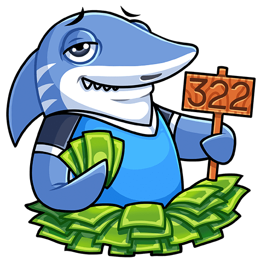 VK sticker Shark 1